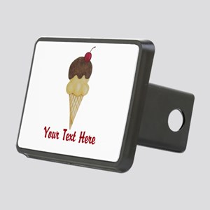 Personalizable Double Scoop Ice Cream Hitch Cover