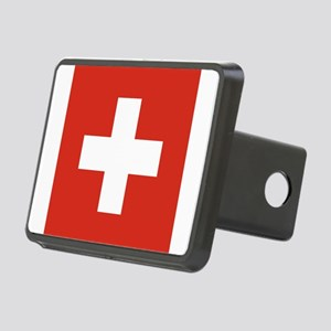 Flag of Switzerland Rectangular Hitch Cover