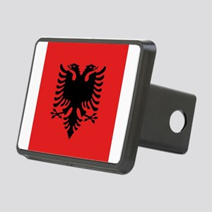 Flag of Albania Rectangular Hitch Cover