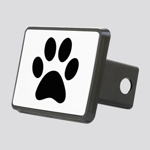Black Paw print Rectangular Hitch Cover