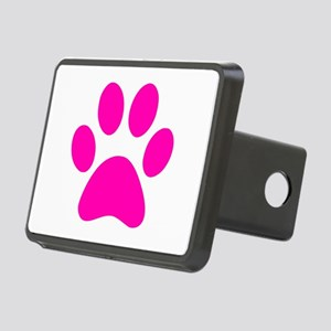 Hot Pink Paw print Rectangular Hitch Cover