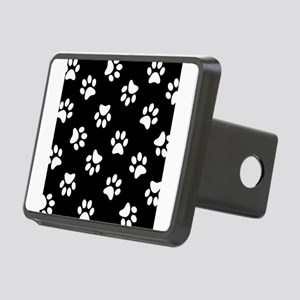 Black and white Pawprint pattern Rectangular Hitch