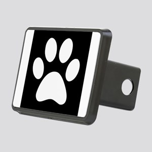 Black and white Paw print Rectangular Hitch Cover