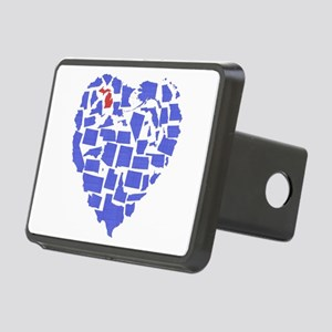 Michigan Heart Rectangular Hitch Cover