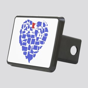 Minnesota Heart Rectangular Hitch Cover