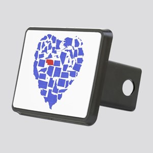 Nebraska Heart Rectangular Hitch Cover