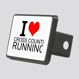 I Love Cross Country Running Hitch Cover