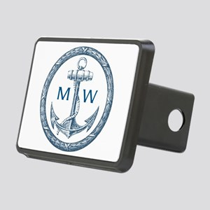 Anchor, Nautical Monogram Hitch Cover