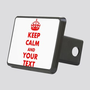 Personalized Keep Calm and Rectangular Hitch Cover