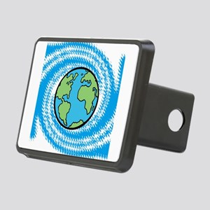 Earth on Blue Swirl Hitch Cover