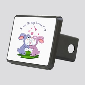 Some Bunny Loves You- Rectangular Hitch Cover