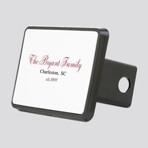 Personalizable Family Black Red Hitch Cover