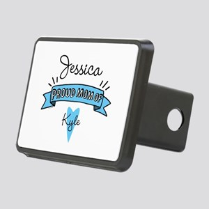 Proud Mom Of Son Rectangular Hitch Cover