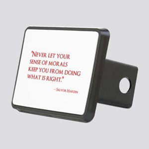 Don't let your morals . . Rectangular Hitch Cover