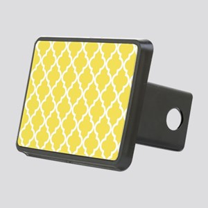Yellow, Canary: Quatrefoil Rectangular Hitch Cover
