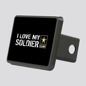 U.S. Army: I Love My Soldi Rectangular Hitch Cover