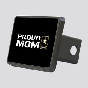 U.S. Army: Proud Mom (Blac Rectangular Hitch Cover