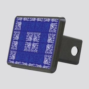 Blue Bandanna II Rectangular Hitch Cover