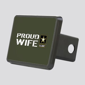 U.S. Army: Proud Wife (Mil Rectangular Hitch Cover