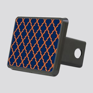 Moroccan Pattern: Orange & Rectangular Hitch Cover