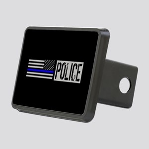 Police: Police (Black Flag Rectangular Hitch Cover