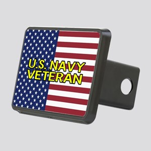 U.S. Navy: Veteran (Americ Rectangular Hitch Cover