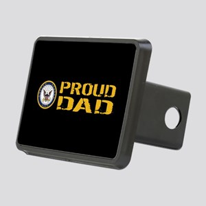 U.S. Navy: Proud Dad (Blac Rectangular Hitch Cover