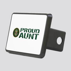 U.S. Army: Proud Aunt (Gre Rectangular Hitch Cover