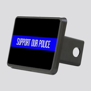 Police: Support Our Police Rectangular Hitch Cover