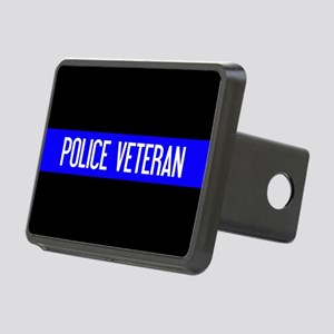 Police: Police Veteran & T Rectangular Hitch Cover