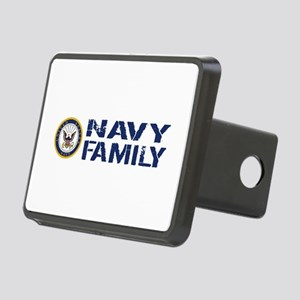 U.S. Navy: Navy Family (Bl Rectangular Hitch Cover