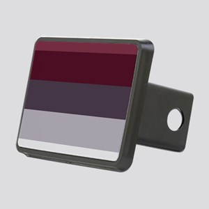 Plum Burgundy Grey Stripes Rectangular Hitch Cover