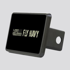 Black Flag: Fly Navy Rectangular Hitch Cover