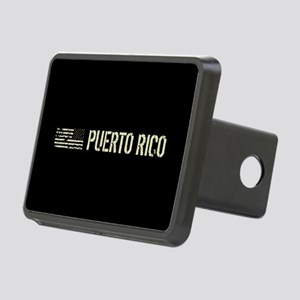 Black Flag: Puerto Rico Rectangular Hitch Cover