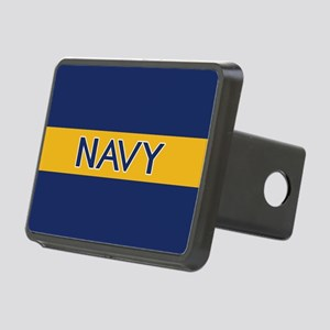 U.S. Navy: Navy (Gold Stri Rectangular Hitch Cover