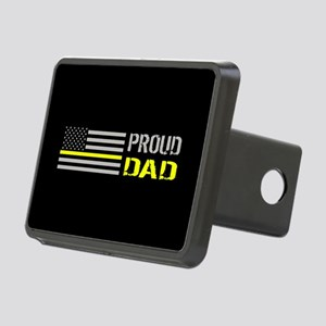 U.S. Flag Yellow Line: Pro Rectangular Hitch Cover
