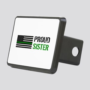 U.S. Flag Green Line: Prou Rectangular Hitch Cover
