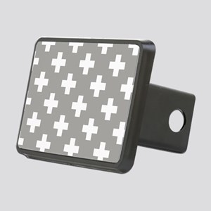 Grey Plus Sign Pattern Rectangular Hitch Cover