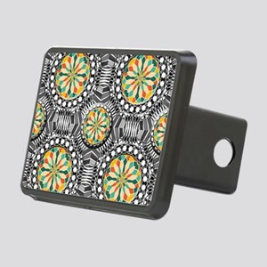 Beveled geometric pattern Rectangular Hitch Cover