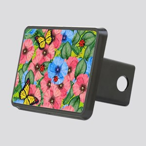 Floral scene Rectangular Hitch Cover