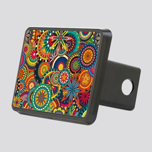 Funky Retro Pattern Rectangular Hitch Cover