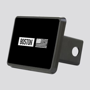 Boston with Black & White Rectangular Hitch Cover