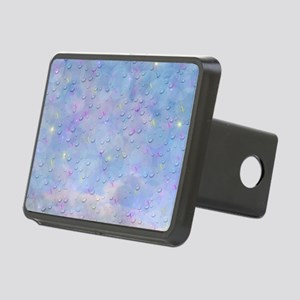 digital butterflies Rectangular Hitch Cover