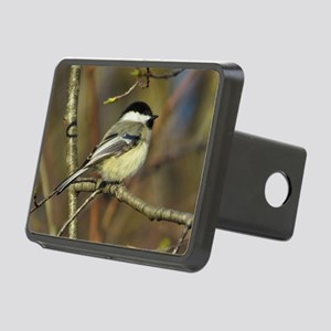Chickadee bird Rectangular Hitch Cover