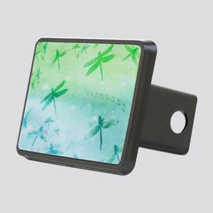 Vibrant Aqua Dragonflies Rectangular Hitch Cover