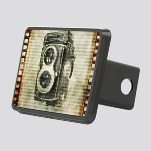 photographer retro camera Rectangular Hitch Cover