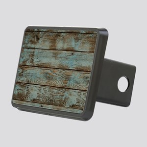 rustic western turquoise b Rectangular Hitch Cover