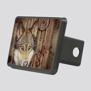 vintage Americana wild wol Rectangular Hitch Cover
