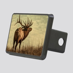 rustic western wild elk Rectangular Hitch Cover