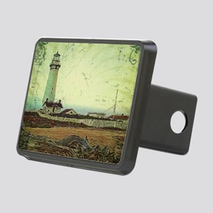coastal nautical vintage l Rectangular Hitch Cover